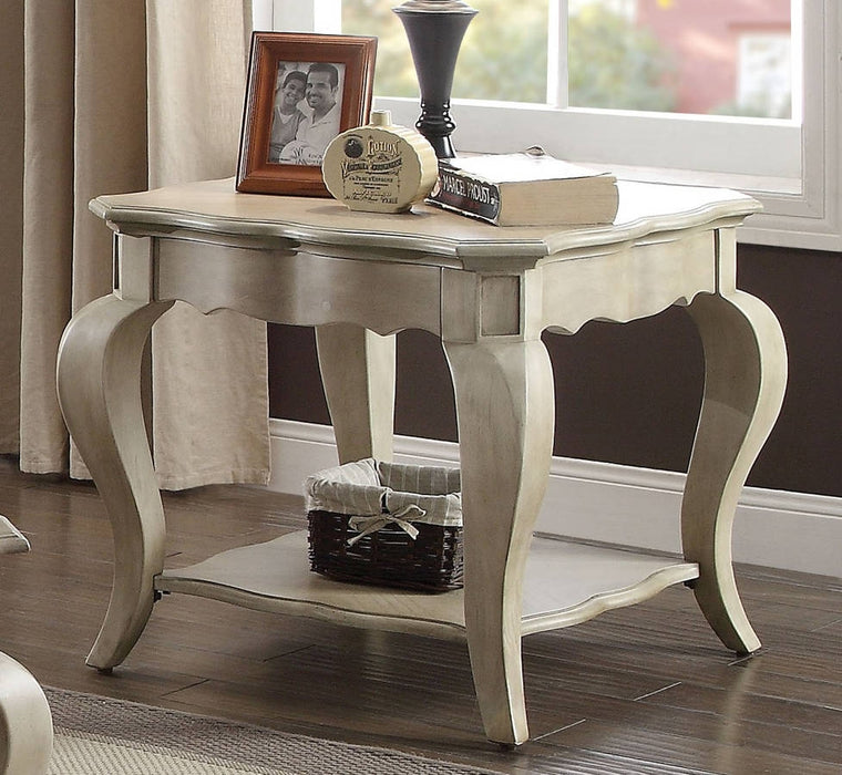 Acme Chelmsford End Table in Antique Taupe 86052 image