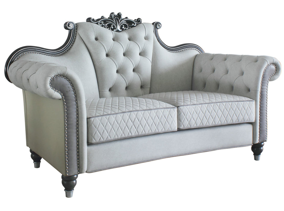 Acme Furniture House Delphine Loveseat in Ivory 58831 image