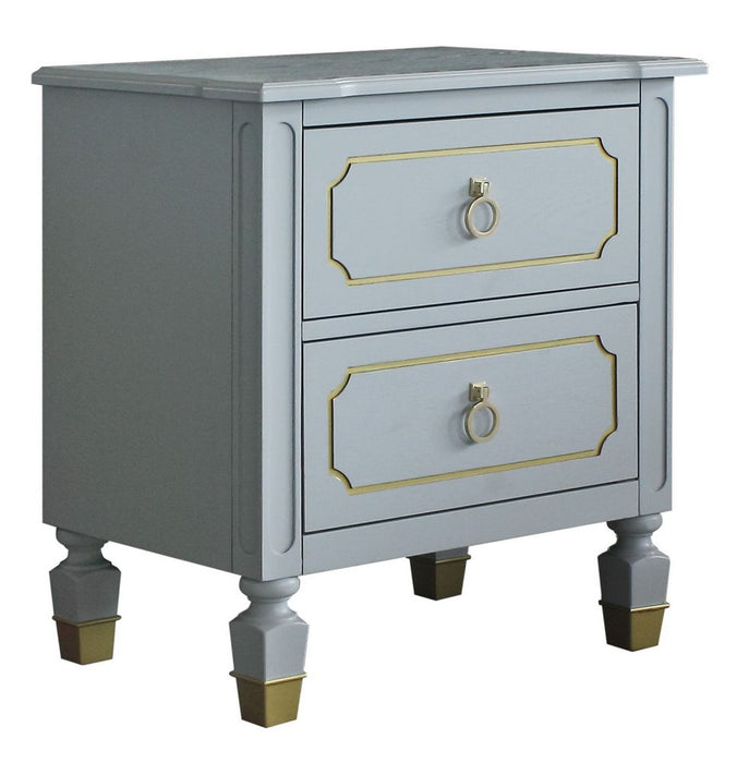 Acme Furniture House Marchese Nightstand in Pearl Gray 28863 image