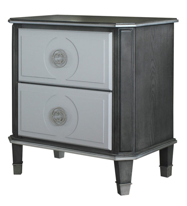 Acme Furniture House Beatrice 2 Drawer Nightstand in Light Gray 28813 image
