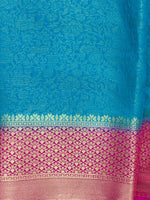 Women's Banaras Jacquard Silk Saree (Blue)