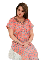 Women's Cotton printed Nighty, Free Size - N2