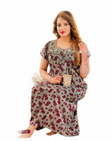 Women's Cotton printed Nighty, Free Size - N8