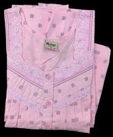 Women's Cotton printed Nighty, Light Pink, Free Size - N1234