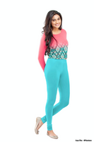 Women's Leggings (Blue) Full Length