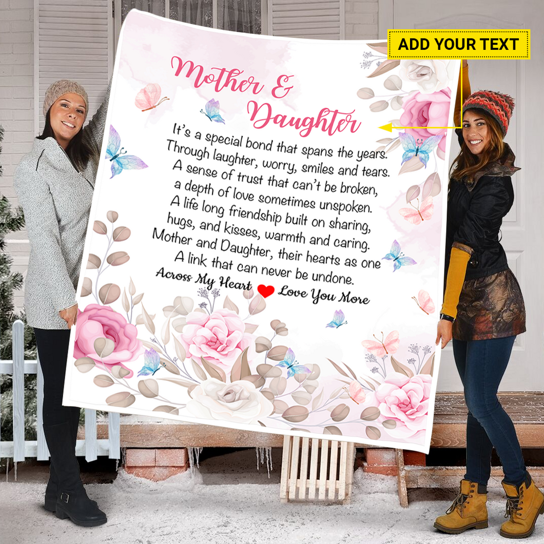 Personalized Quilt Mother And Daughter Quilt Blanket Gift For Mother Quilt Blanket Gift For Daughter Quilt Blanket