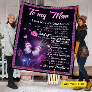 Personalized To My Mom Blanket Butterfly To My Mom Blanket Gift For Mom From Daughter Mom Blanket Mother'S Day Gift Gift For Mom