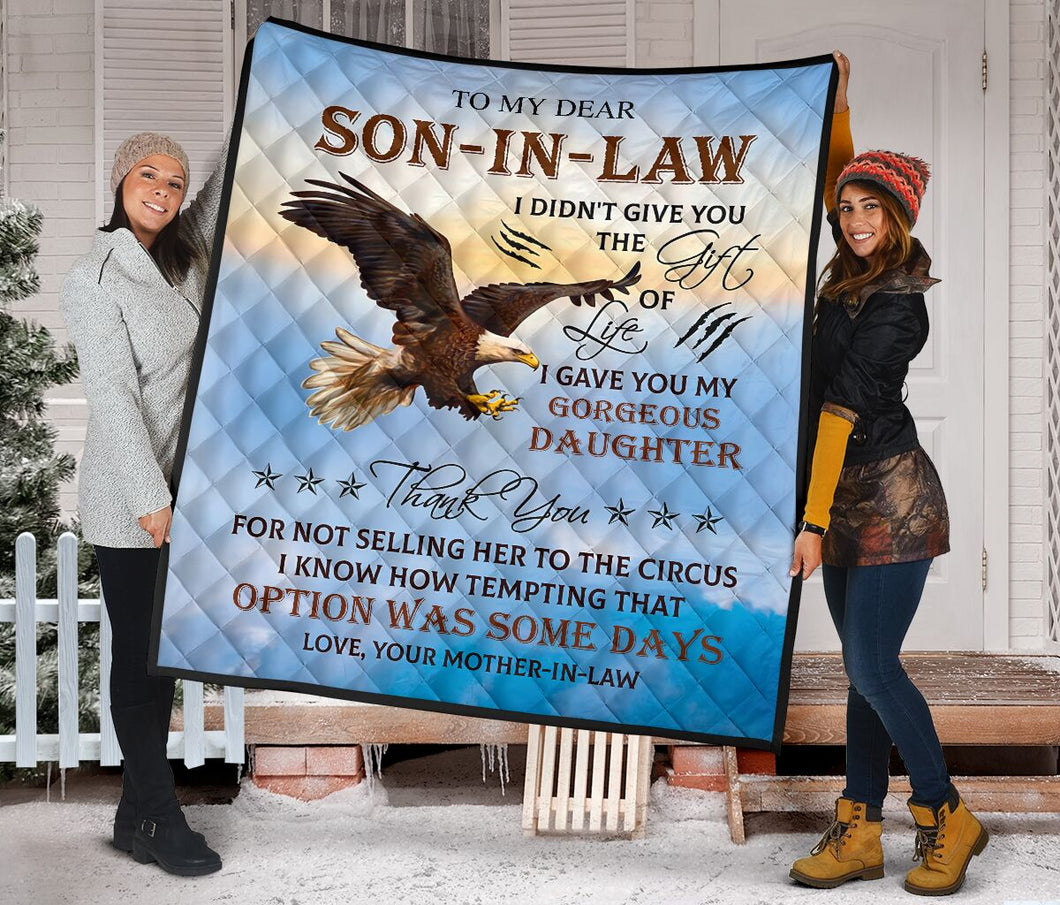To My Dear Son In Law From Mother In law Fleece Blanket