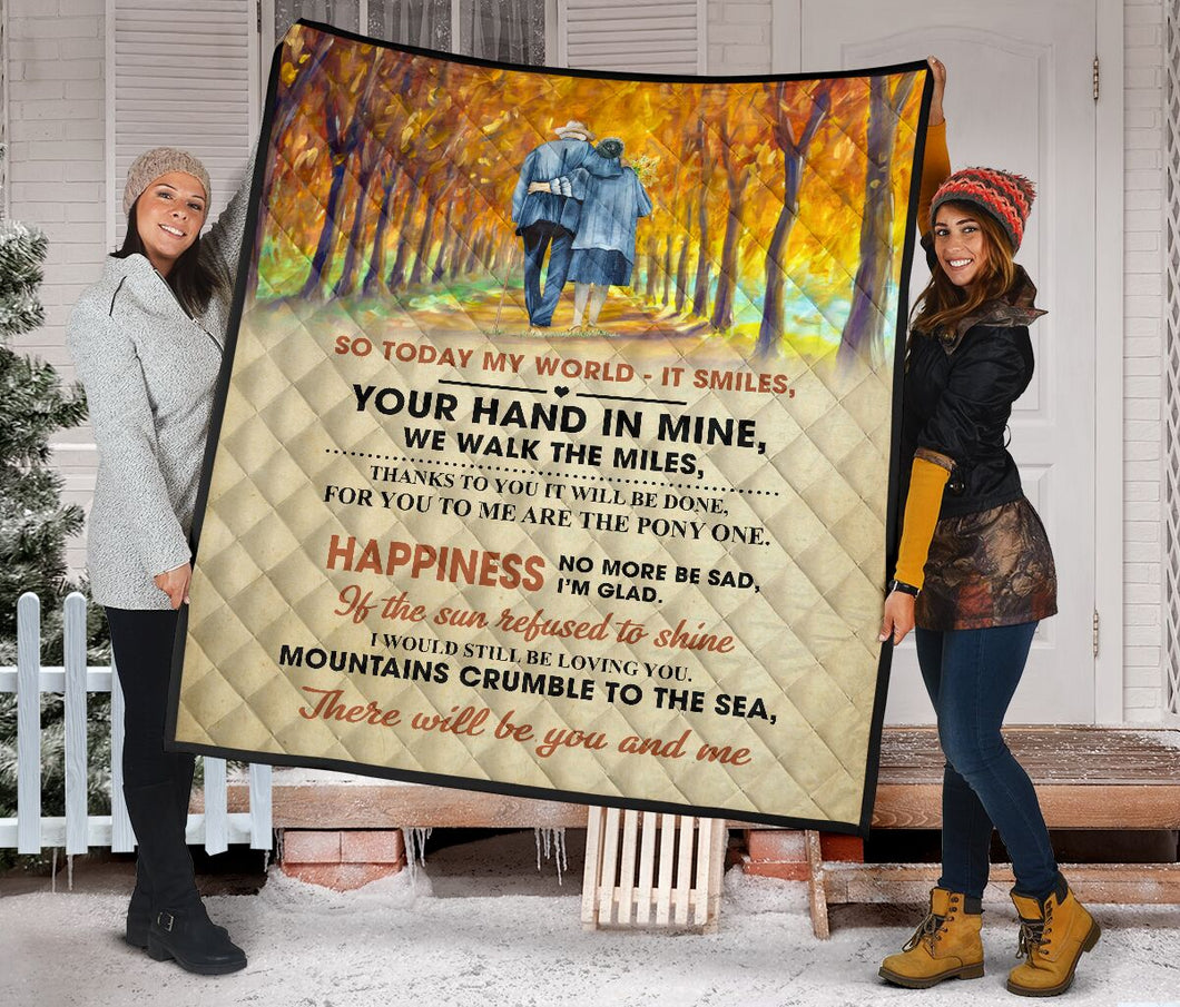To My Darling Your Hand In Mine Fleece Blanket