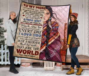 To My Mom in law from daughter in law Fleece Blanket