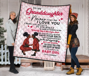 To My Granddaughter from Grandma Fleece Blanket