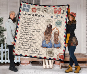 To My Mom From Daughter Envelope Fleece Blanket