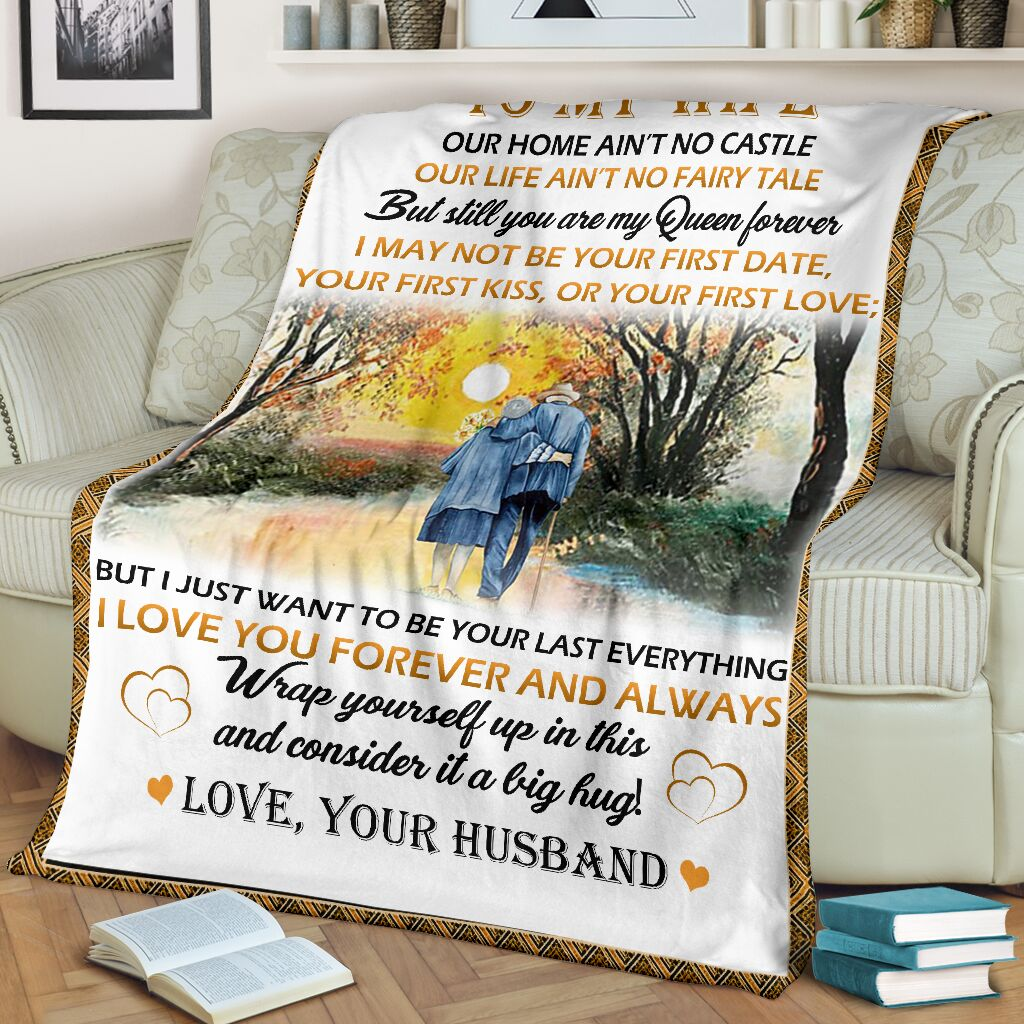 my wife you are my love Fleece Blanket