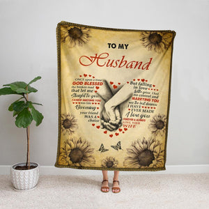 Holding hand wife to my husband falling in love with you i had no control marrying you Fleece Blanket