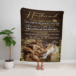 Lion wife to my husband i'll love you for the rest of mine forever & always Fleece Blanket