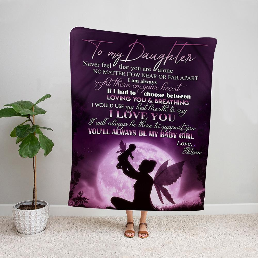 Family mom to my daughter i will always be there to support you my baby girl Fleece Blanket