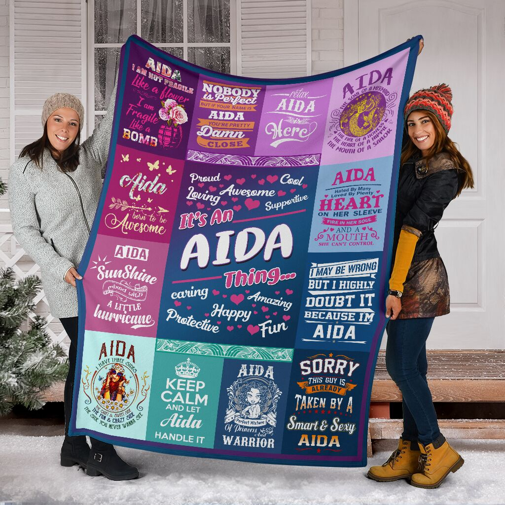 Aida Fleece Blanket Small Medium Large X-large