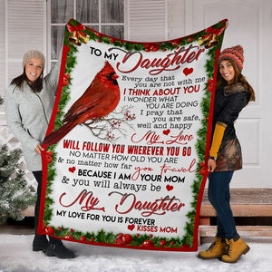 To My Daughter New Christmas Fleece Blanket