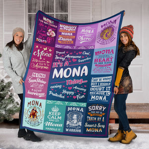 Mona Fleece Blanket