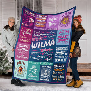 Wilma Fleece Blanket