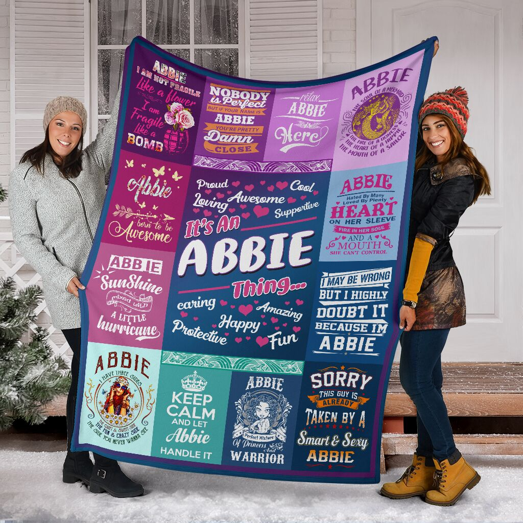 Personalized Name, Abbie Fleece Blanket Small Medium Large X-large
