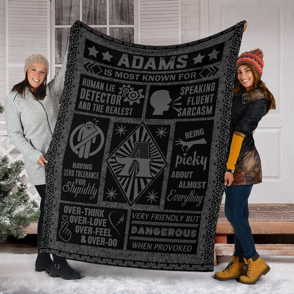 Adams Fleece Blanket Small Medium Large X-large