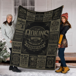Personalized Name, Adkins Fleece Blanket Small Medium Large X-large