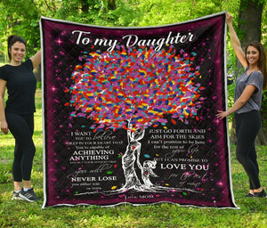 to my daughter never lose love mom fleece blanket