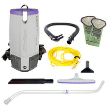 Load image into Gallery viewer, Super Coach Pro 10, 10 qt, Backpack Vacuum w/ Xover Multi-Surface Telescoping Wand Tool Kit