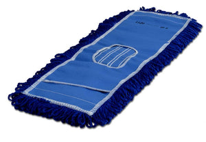 "18"" Blue Microfiber Dust Mop"