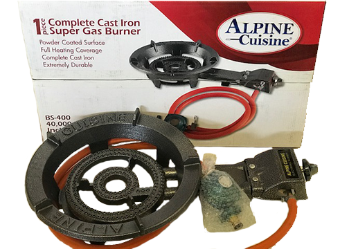 Alpine Cuisine Cast Iron Gas Burner