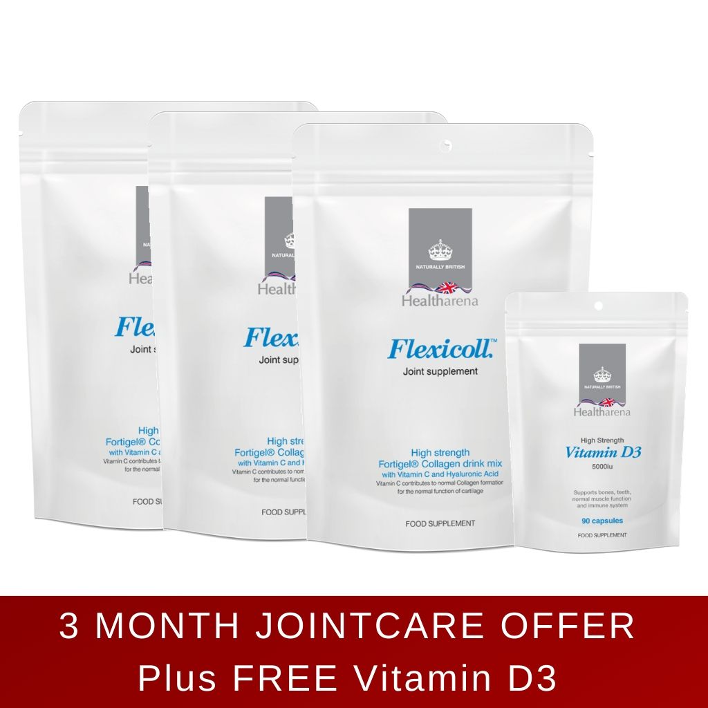 Flexicoll™ Collagen Drink Mix NEW Eco-Friendly Pack - 3 months supply + FREE Vitamin D3