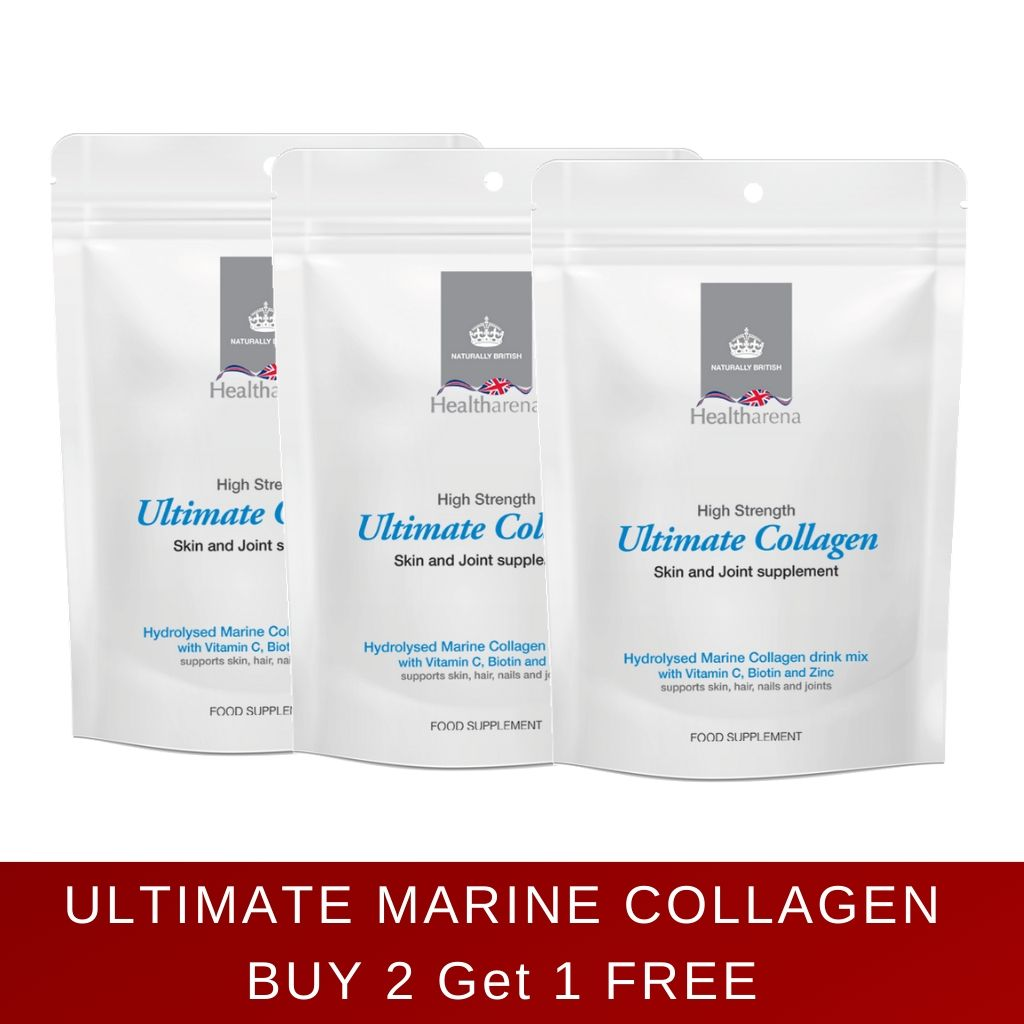 Ultimate Collagen - High Strength Hydrolysed Marine Powdered Collagen Drink Mix. Buy 2 get 1 free