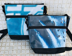 Water-resistant and secure cross body purse