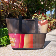 Load image into Gallery viewer,  Sturdy, water resilient market bag made from upcycled billboard banners