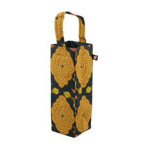 Upcycled Batik off-cuts beautifully crafted into bottle bags for wine or water.