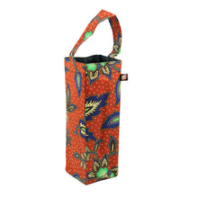 Load image into Gallery viewer, Upcycled Batik off-cuts beautifully crafted into bottle bags for wine or water.
