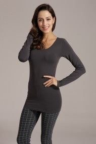 Fitted Bamboo Long Sleeve Top