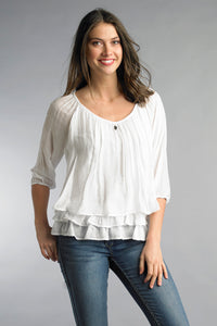 Silk Tiered Blouse
