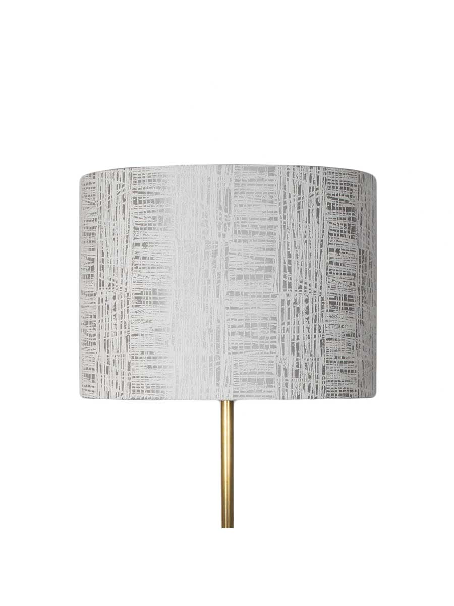 Etched Silver Drum Lampshade – 35cm/14