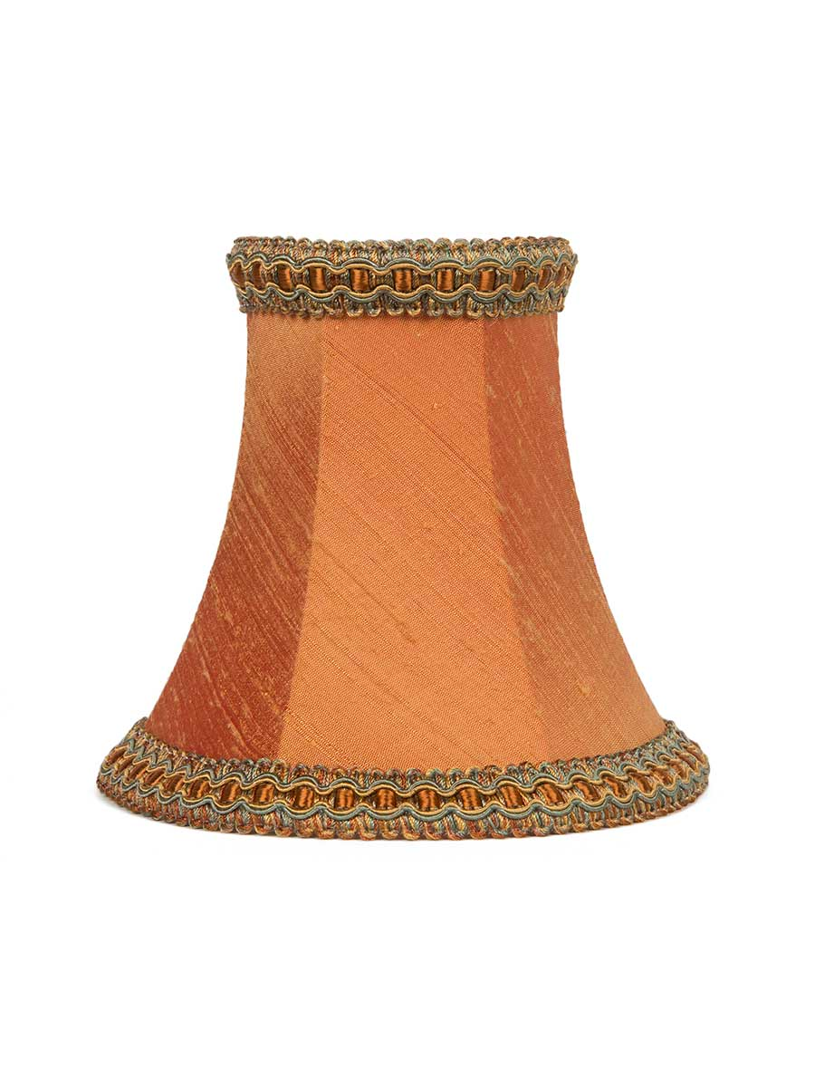 PAPRIKA SILK BOWED EMPIRE LAMPSHADE - 12cm/5""