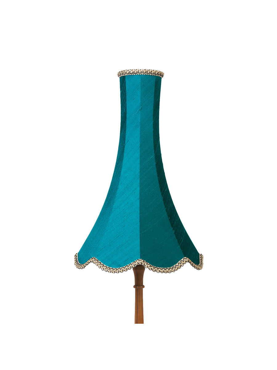 Pacific Blue Silk Chimney Bell Lampshade – 30cm/12""