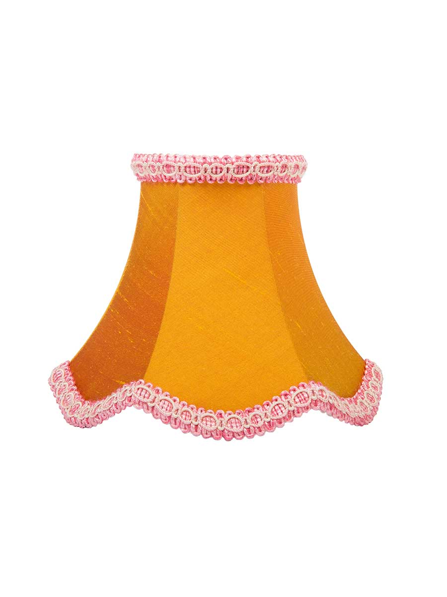 SIENNA SILK SCALLOPED BELL LAMPSHADE - 15.5cm/6""