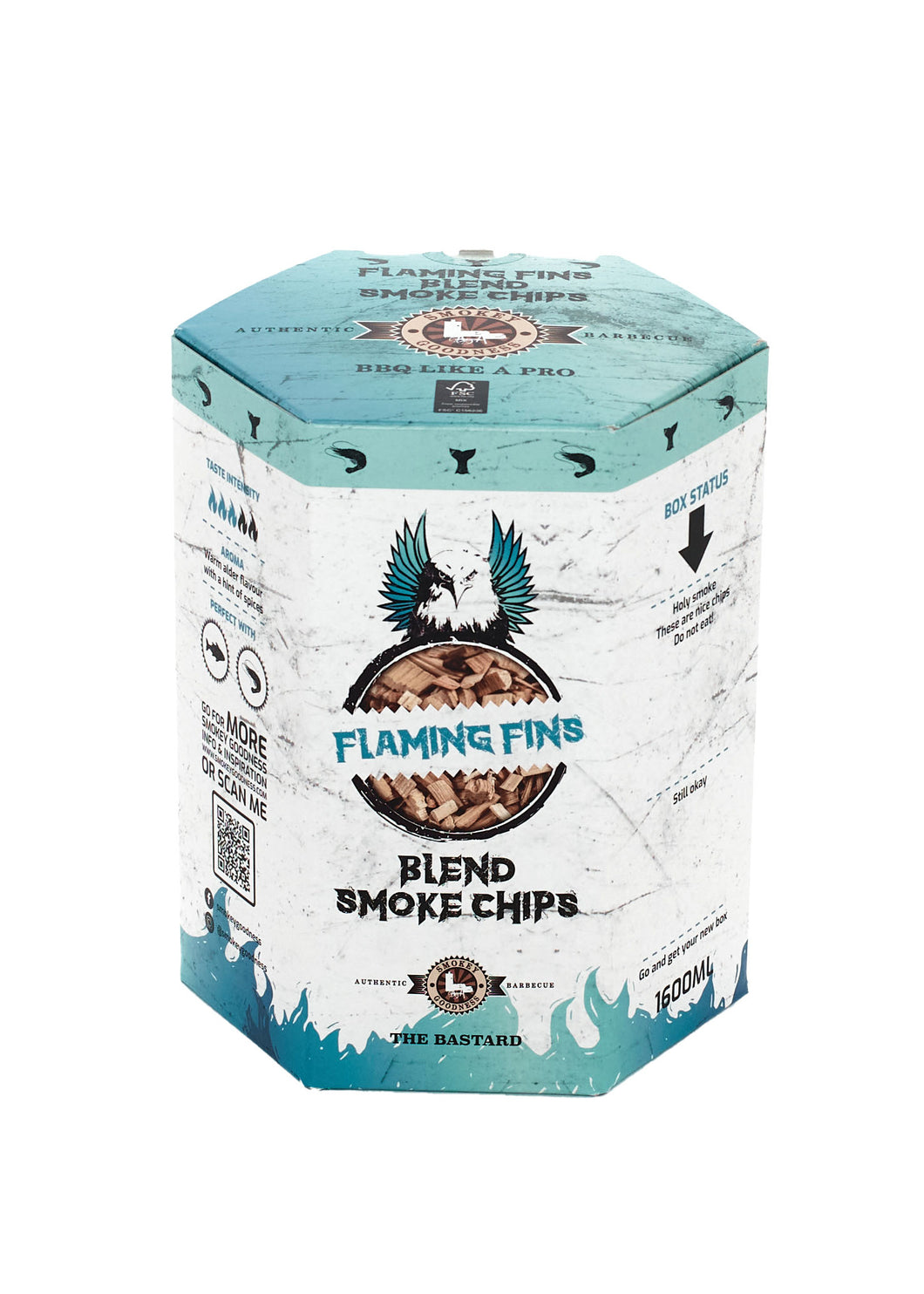 Smokey Goodness Flaming Fins Smoke Chips blend Alder, Apple