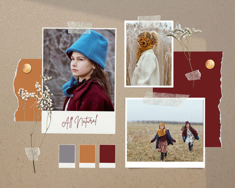 Collage of Hilda.Henri boiled wool styles. Sustainable fashion from Austrian brand Hilda.Henri - inspired by Alpine traditions interpreted in a new way