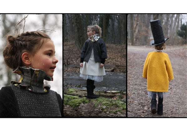 Collage of girls wearing Hilda.Henri winter outfits