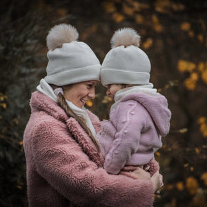 WINTER LOVER Mini Me Schal & Mützen Set