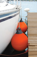 "Load image into Gallery viewer, Air Inflatable Vinyl Buoy Bright Orange Docking Mooring Marker 12"" Tuff End Mark"