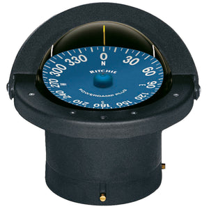 Ritchie SuperSport Compass Flush Mounting Black High Visibility Blue Dial LED light