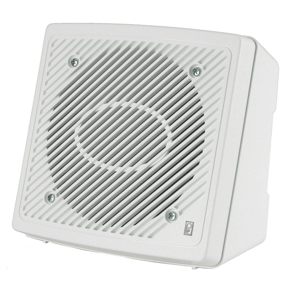 2 Way Marine Speaker Pair White Poly Planar 5.25 Inch Premium Enclosed Flush